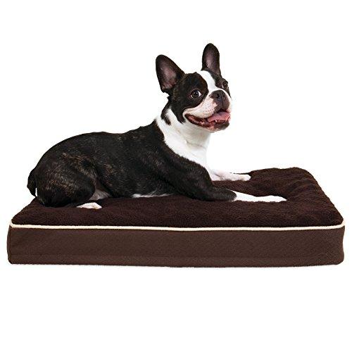 Cama ortopédica para perro Aspen Pet, Marrón, 18 X 28 X 3.5
