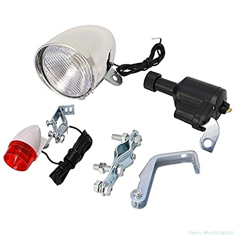 Motorized Bike Bicycle Friction Dynamo Generator Head Tail Light With Acessories