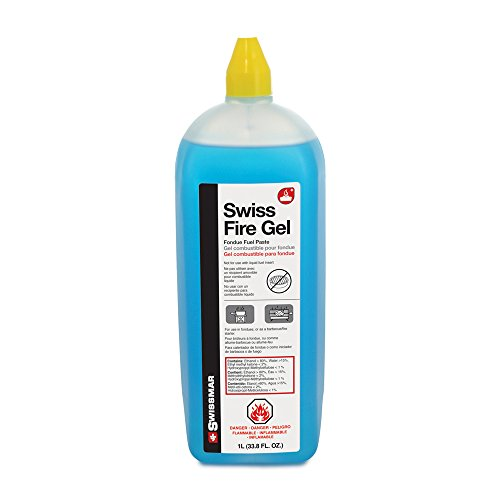 Safe and easy to use, Swiss Fire gel is for fondue pots with fuel burners in rechauds, and burns longer than regular alcohol. Also ideal for lighting open fires and charcoal fueled BBQs.