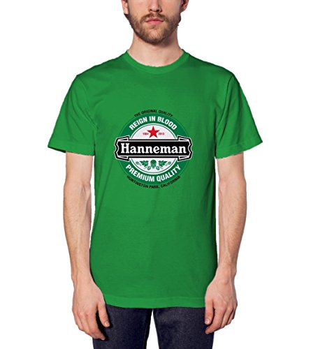 Jeff Hanneman 4 Mens Tshirt Tshirt Workout Tshirt Irish Green M WB (Heineken Shirt)