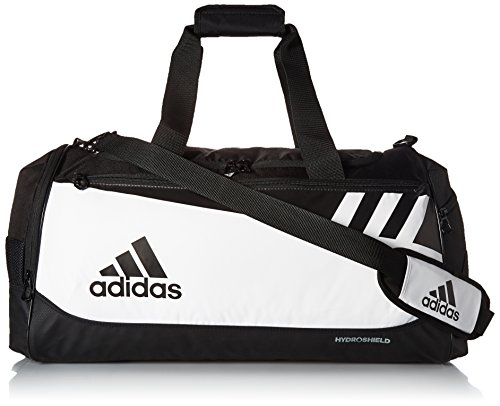 adidas Team Issue Duffel Bag, White/Black, Medium (Shield Inc White)