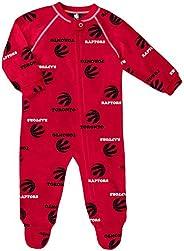 Toronto Raptors Newborn All Over Print Raglan Sleeper