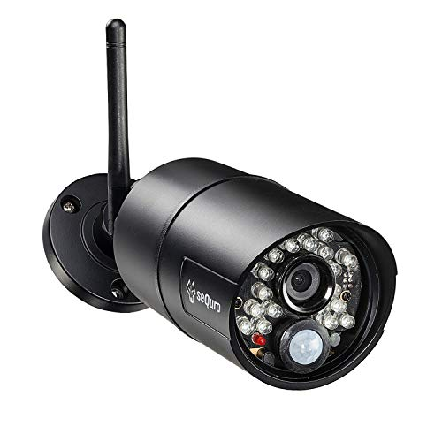 sequro GuardPro HD Home Security Surveillance Cameras add-on Bullet Camera Weatherproof IP66, Work with GuardPro Series…