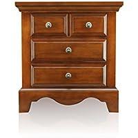 Furniture of America Aspen Classic Nightstand, Light Walnut
