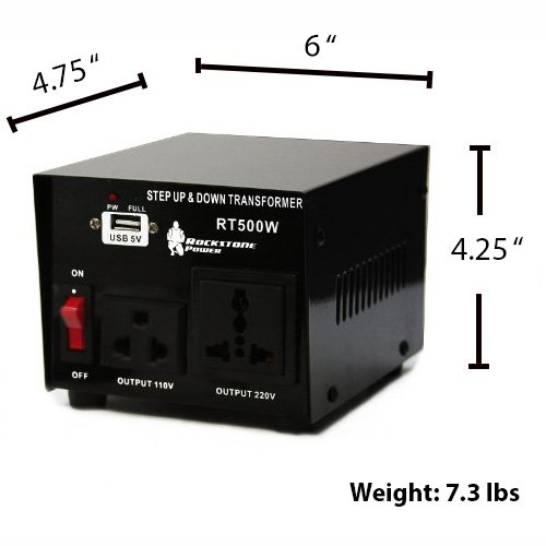 Rockstone 500 Watt Heavy Step Voltage Converter - Step - 5V -