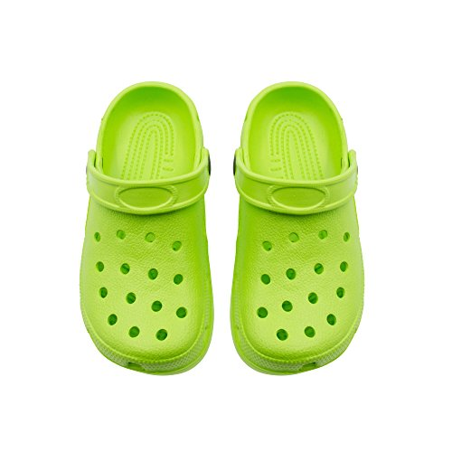 Sara Z Girls Rubber Foam Slingback Clogs With Ventilated Upper Size 10/11 Lime