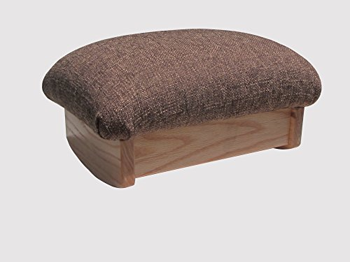 KR Ideas Rocking Padded Foot Stool, Cocoa Brown, 7