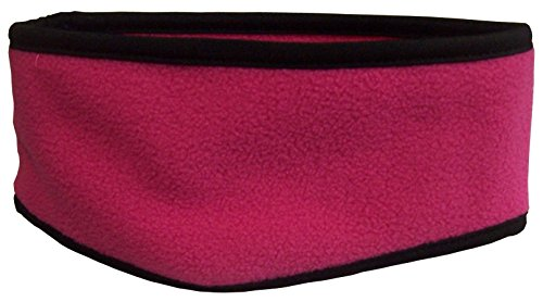 - N'Ice Caps Kids 2 Ply Micro Fleece Earlap Headband With Stretch Binding (One size fits 4yrs and up, fuchsia)