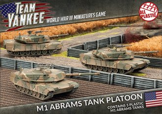 Flames of War Team Yankee M1 Abrams Tank Platoon (Plastic) for sale  Delivered anywhere in USA