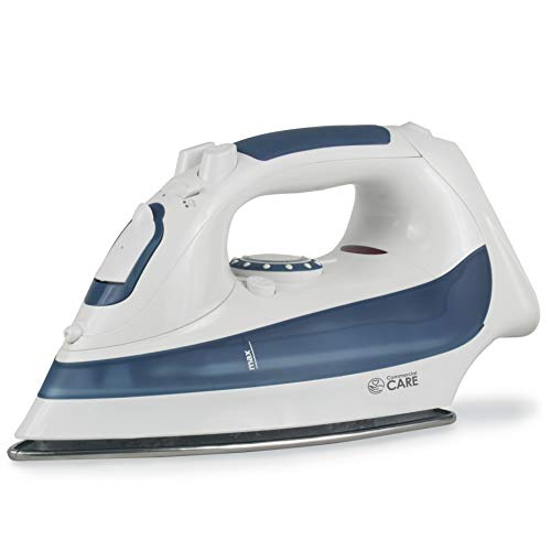 Commercial Care 1200 Watts Steam Iron, Blue Accents