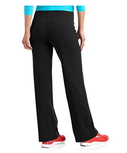 Danskin Now Womens Dri-More Core Bootcut Pants (Small, Black Soot)