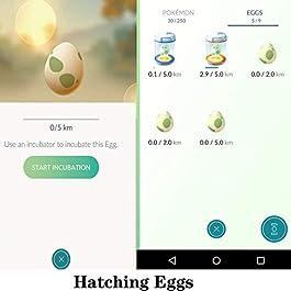 Steps Counter Compatible with Poke Ball Plus, Pokemon Go, Pokemon go Pedometer, Smart Watch, Two Phone Shaker, Gotcha 2…