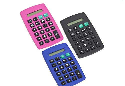 100pcs Standard Calculator Assorted Colors by JOT (Image #1)