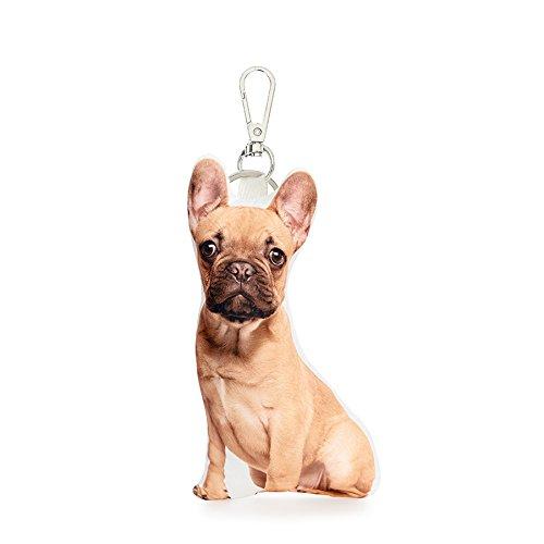 Cojín Co - Bulldog Francés marrón almohada clave cadena ...