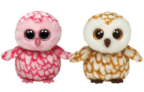 Ty Beanie Boos Owls Swoops and Pinky set -