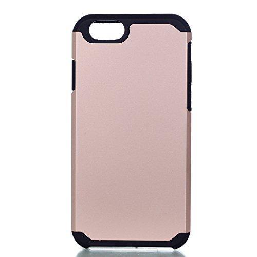 "Hülle Cover iPhone 7, IJIA Ultra Dünnen Weich TPU und Harte PC (2 in 1) Silikon Hülle Handyhüllen Schutzhülle Handyhülle Schale Case Tasche für Apple iPhone 7 (4.7"") + 24K Gold Aufkleber (Gold)"
