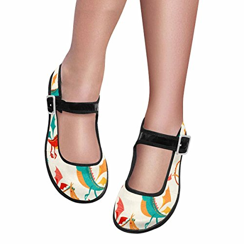 Interestprint Femmes Confort Mary Jane Appartements Casual Chaussures De Marche Multi 9