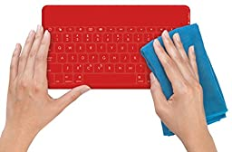 Logitech Keys-To-Go Ultra-Portable Stand-Alone keyboard for devices with iOS 7 and higher, Android 4.1 and higher, or Windows 7 and higher, Red (920-006948)