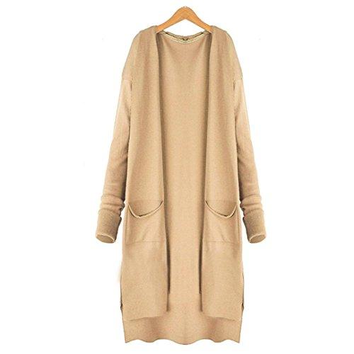 Long Cardigan Coat Women,Hemlock Pockets Sweater Ladies Knitting Cotton Cardigan Jacket Outerwear