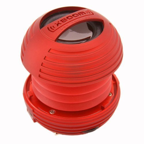 XBOOM Mini Portable Capsule Speaker with Rechargeable Battery and Enhanced Bass+ Resonator - Red by XBOOM