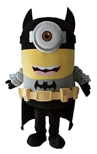 Aris Batman Minion Mascot Costume BatMinion Costume Cartoon Costumes for Party for $<!--$365.00-->