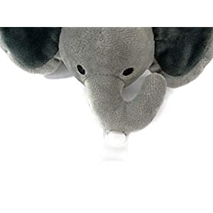 KINREX Grey Elephant Pacifier Holder – Baby Soothie Stuffed Animal Toy – Measures 18 cm. – 7.09″
