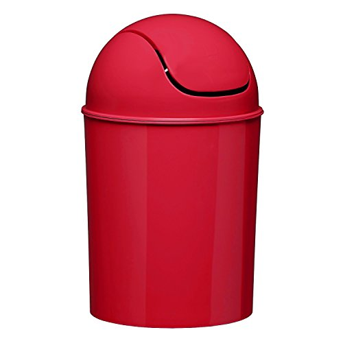red trash can - 3