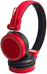 PROLiNK PHC1003E-Red Stereo Headset with Microphone Foldable Headband