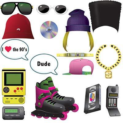 90s Throwback Fun Photo Booth Prop Kit]()