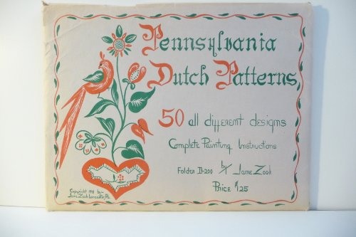 Pennsylvania Dutch Patterns.50 All Different Designs Complete Painting Instructions Folder D 200 ()