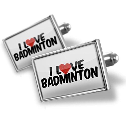Cufflinks I Love Badminton - Neonblond