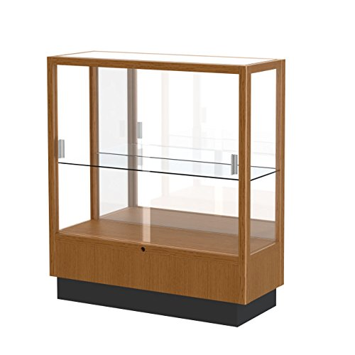 - Waddell Heritage Mirror Back Countertop Display Case, 36W by 40H by 14