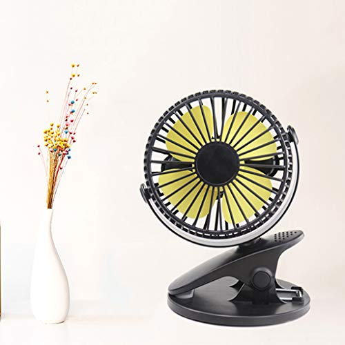 Alisy Clip Fan Table Stand Small Fan, USB Mini Fan Student Fan - 360° Portable Camping Fan Rechargeable USB Clip On Mini Desk Fan Pram Cot Car - Cot Car