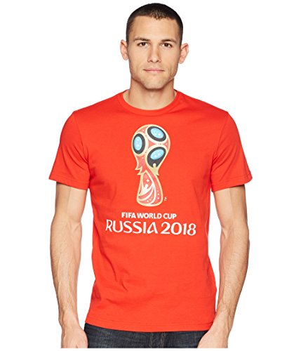 adidas World Cup Soccer World Cup Emblem Men's Tee, X-Large, Red ()