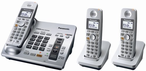 Panasonic KX-TG6073S 5.8 GHz Expandable Digital Cordless Answering System with 3 Handsets 5.8 Ghz Three Handset