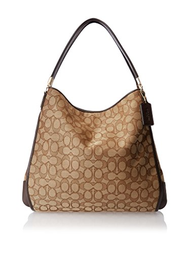 36184 BROWN Phoebe Outline Coach IM Shoulder Signature Bag KHAKI TXqZwFOx