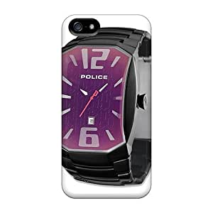 Ultra Slim Fit Hard Saraumes Case Cover Specially Made For Iphone 5/5s- Police Watch