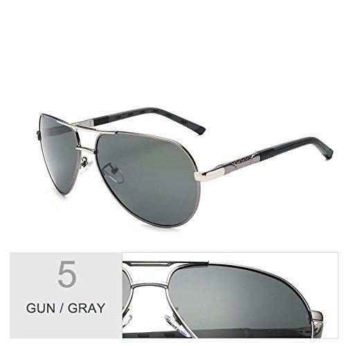 De Gray TIANLIANG04 Gun Sol Gris Para Oval Gun Hombres Aviador Lentes Polarizadas Espejo Gafas qZpwZTxRn6