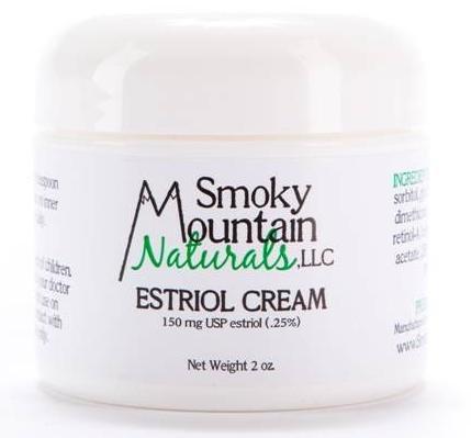 Natural Estrogen / estriol crème (bio-identique) 2 Oz. 150 Mg. (Pour les rides, sécheresse vaginale, bouffées de chaleur, sautes d'humeur, et d'autres effets de la ménopause)