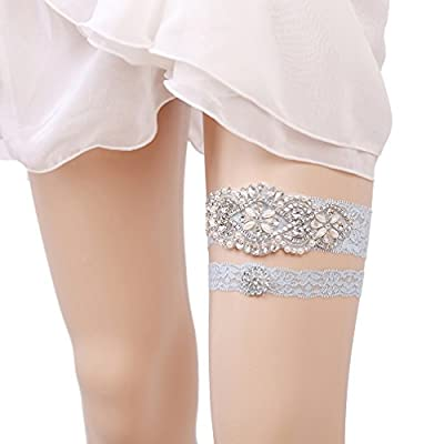Eliffete 2019 Luxury Throw Away and Keep One Lace Wedding Garter Set for Brides