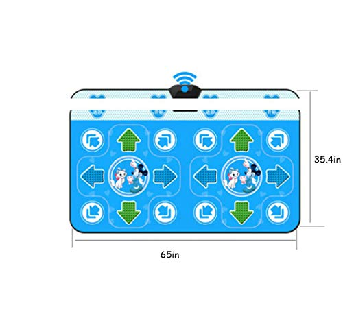 QXMEI Wireless Dance Mat Double Body Massage Light Thickening Dual Purpose,Blue by QXMEI (Image #1)