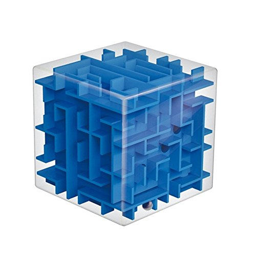 Trekbest 3D Magic Cube Puzzle Box Sequential Puzzles as Christmas Gift Birthday Gift (Blue) 3d Cube Puzzle