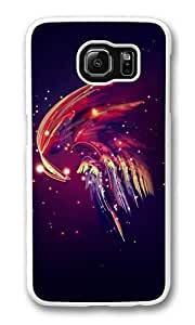 Abstract plume PC Case Cover for Samsung S6 and Samsung Galaxy S6 White