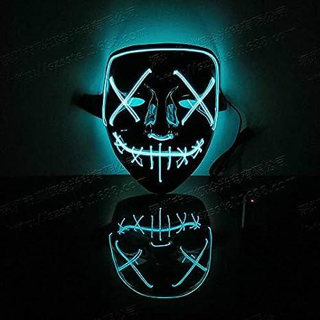 MSSJ Máscara de Halloween Máscaras de Fiesta con luz LED ...