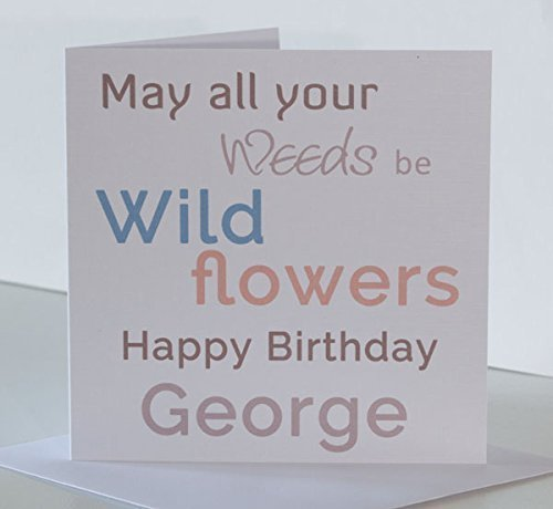 Personalised Gardener Birthday Card For Him Friend Dad Son Brother Husband Granddad Uncle Boyfriend Humorous