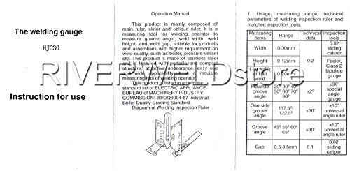 Herramienta de inspección del calibrador de soldadura HJC-30 Multi-Función Gage Pit Test Ulnar Ruler: Amazon.es: Bricolaje y herramientas