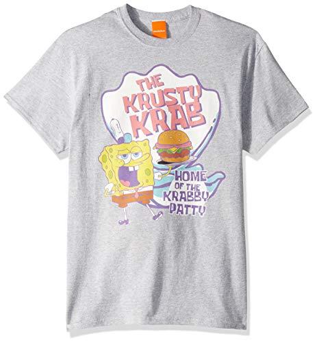 SpongeBob SquarePants Men's Spongebob Krusty Krab-Heather Grey, 3XL]()