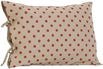 Algodón Tale Designs Dot Plain funda de almohada con lazos, color ...