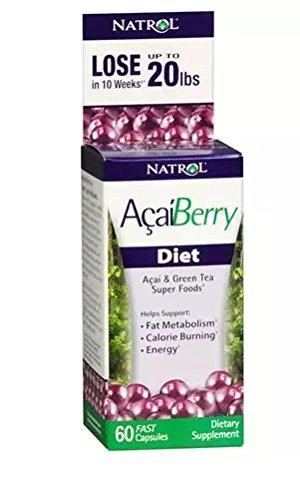 Acai Berry Abstain Dietary Supplement Capsules 60.0 Count by Natrol (1 Pack)