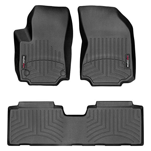 All Weather Weathertech FloorLiner Floor Mats for Chevy Equinox 2018-2019 1st 2nd Row Black